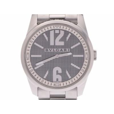 銀蔵 中古 BVLGARI ブルガリ ソロテンポ42 ST42S 白系文字盤 SS クオーツ 腕時計 ランクA