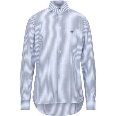 ヘンリーコットンズ HENRY COTTON'S メンズ シャツ トップス Striped Shirt Pastel blue