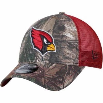 New Era ニュー エラ スポーツ用品  New Era Arizona Cardinals Realtree Camo/Cardinal Trucker 9FORTY Adjustable Snapback Hat