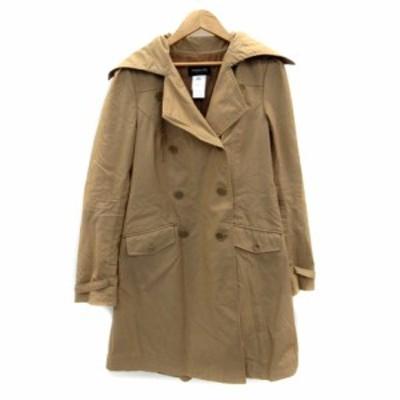 【中古】パトリツィアペペ PATRIZIA PEPE コート トレンチ ロング丈 42 茶色 ブラウン /HO38 レディース