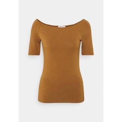 モドストローム Tシャツ レディース トップス TANSY  - Basic T-shirt - brown oak