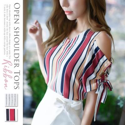 Girly Doll オープンショルダートップス ホワイト ~S レディース
