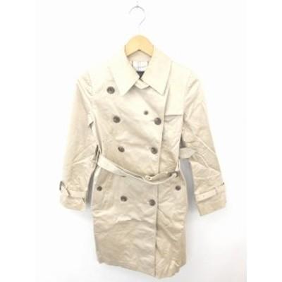 【中古】ヨンドシー 4℃ コート アウター トレンチ 膝下丈 ステンカラー 長袖 36 薄茶 ライトベージュ /TT12