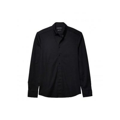 Vince Camuto ヴィンスカムート メンズ 男性用 ファッション ボタンシャツ Pique Knit Sport Shirt - Black
