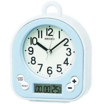 バスクロック キッチン 掛け時計 置き時計 掛け置き兼用 生活防水 タイマー機能付き セイコー SEIKO クロック クオーツ ブルー BZ358L