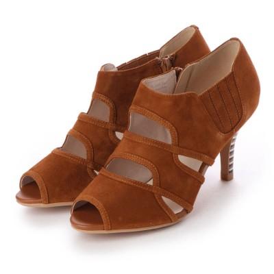 アンタイトル シューズ UNTITLED shoes オープントゥパンプス (ブラウンスエード)