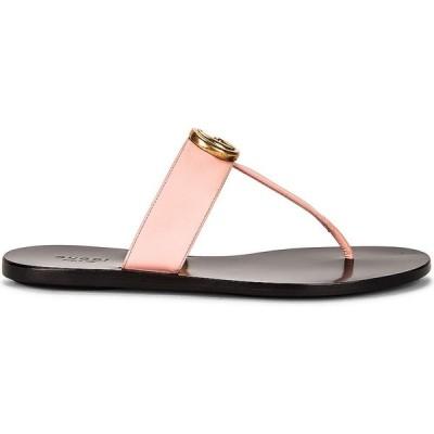 グッチ Gucci レディース サンダル・ミュール シューズ・靴 double g leather thong sandals Pink