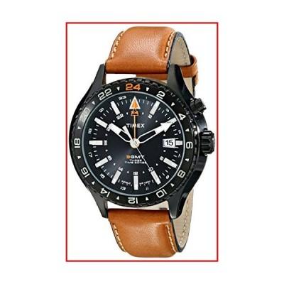 Timex Intelligent クォーツ 3GMT ウォッチ ブラウン/ブラック【並行輸入品】
