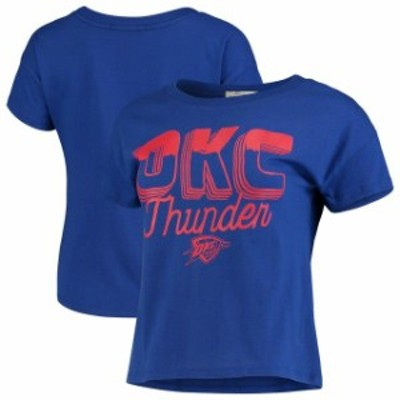 Junk Food ジャンク フード スポーツ用品  Junk Food Oklahoma City Thunder Womens Blue Boyfriend Crop T-Shirt