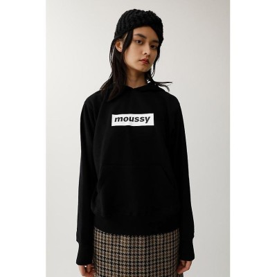 (moussy/マウジー)early moussy パーカー/レディース BLK