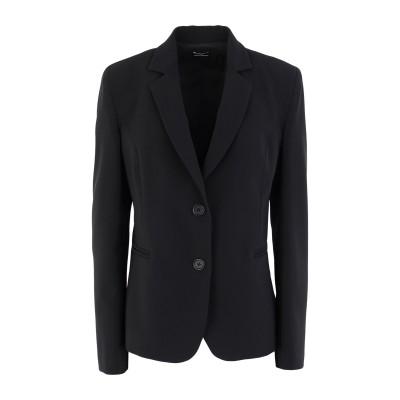 MASCHERONI テーラードジャケット ブラック 44 ポリエステル 88% / ポリウレタン 12% テーラードジャケット