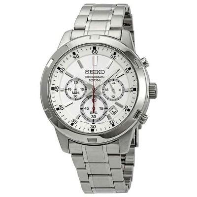 セイコー 腕時計 Seiko Neo Sports クロノグラフ Steel White ホワイト Dial Date クォーツ メンズ Watch SKS601P1