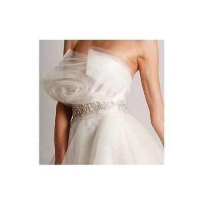 ウェディングワンピース マルケッサ  Marchesa Couture WHITE Jeweled Best WEDDING DRESS of the year GOWN size 4
