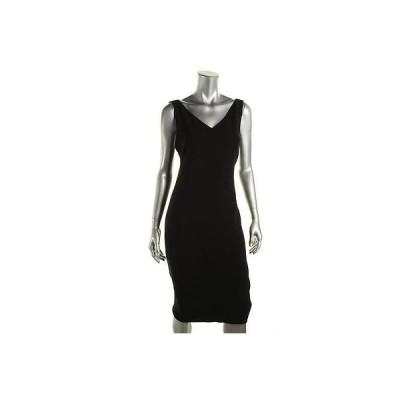 ドレス ワンピース Elie Tahari Elie Tahari 6380 レディース ブラック ノースリーブ Knee-Length Party Clubwear ドレス 6 BHFO