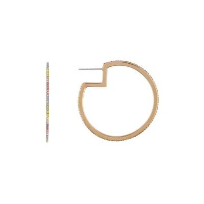 リズスチュワーツ レディース ピアス&イヤリング アクセサリー Rainbow Hoop Earrings GOLD