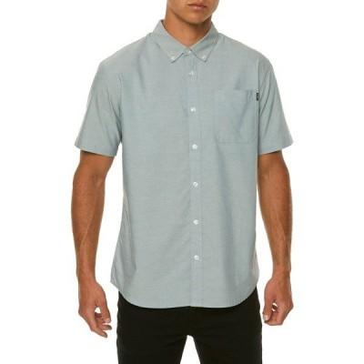 オニール シャツ トップス メンズ O'Neill Men's Banks Woven Short Sleeve Shirt DustBlue