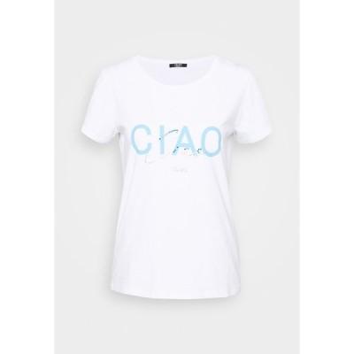 リュー ジョ ジーンズ Tシャツ レディース トップス Print T-shirt - white