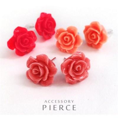 ピアス 薔薇 花 かわいい プチプラ レディース