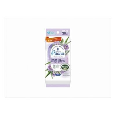 大王製紙 エリエール Puana ピュアナ ウエットティシュー 除菌99.99%アルコールタイプ 携帯用30枚 代引不可