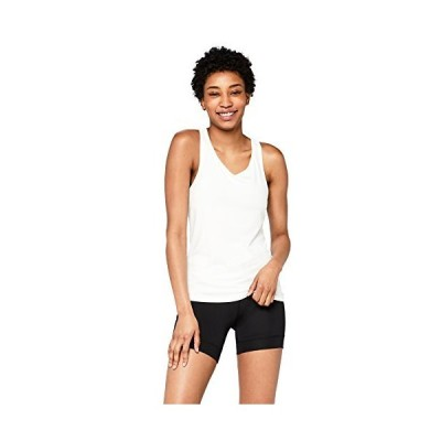 AURIQUE Womens Sports Tank Top, White, X-Small