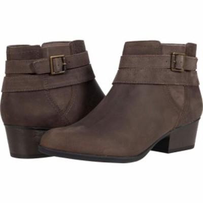 クラークス Clarks レディース ブーツ シューズ・靴 Bell Show Dark Taupe Leather