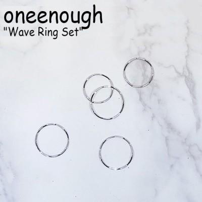 ワンイナフ リング oneenough メンズ レディース Wave Ring Set ウェーブ リング セット SILVER シルバー 韓国アクセサリー 300654153 ACC