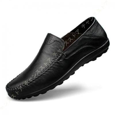 ローファー スリップオン ドライビングシューズ メンズ 本革 デッキシューズ 軽量 モカシン 靴 カジュアルシューズ 2種履き方 手作り 紳士靴 ビジネスシューズ