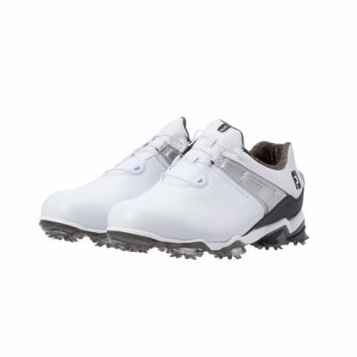 フットジョイ ゴルフシューズ ツアーX ボア 20 55413 最高峰パフォーマンスツアーモデル メンズ ゴルフ ダイヤル式スパイク 3E ホワイト×ブラック FOOT JOY