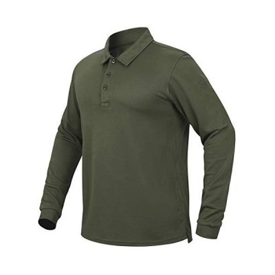 CARWORNIC Mens Tactical Shirt Quick Dry Long Sleeve Sport Polo Shirt Milita