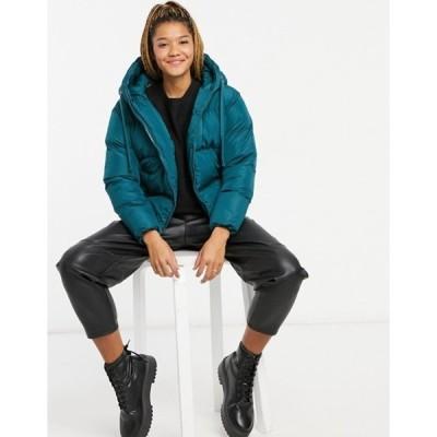 スリードベア レディース ジャケット・ブルゾン アウター Threadbare hooded puffer jacket