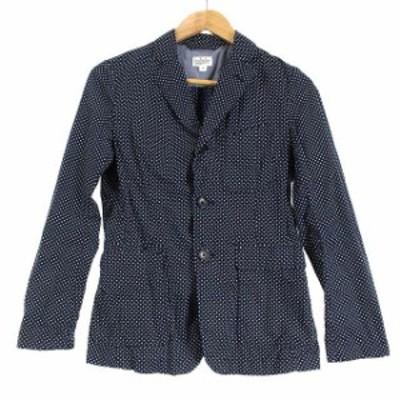 【中古】エンジニアードガーメンツ Engineered Garments FWK テーラードジャケット 背抜き ドット 1 紺 白 /HH ■OS
