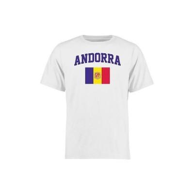海外バイヤーおすすめ Tシャツ トップス ウエア Andorra ホワイト フラッグ Tシャツ