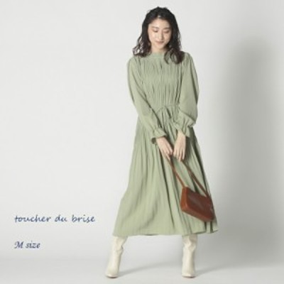 【新作 Mサイズ】プリーツワンピースレディース 【toucher du brise トウシェドブリーズ】 婦人服 ファッション20代 30代 40代 人気コー
