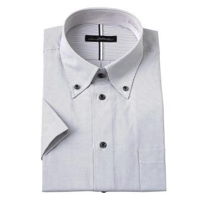 衿汚れが落ちやすい形態安定半袖ワイシャツ(ボタンダウン) (ワイシャツ)Shirts, テレワーク, 在宅, リモート