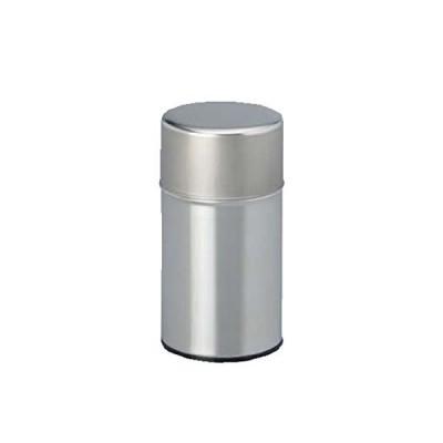 茶筒・茶葉ストッカー 白缶 150g無地 内容量150g用