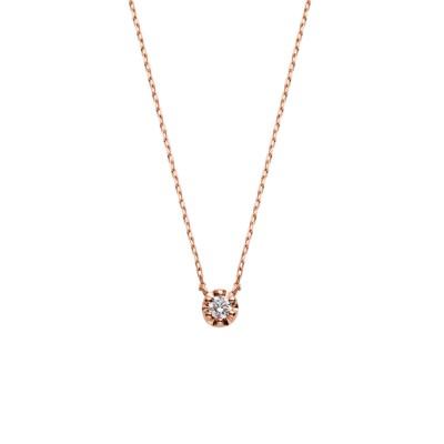 ネックレス K10ピンクゴールド ダイヤモンドネックレス