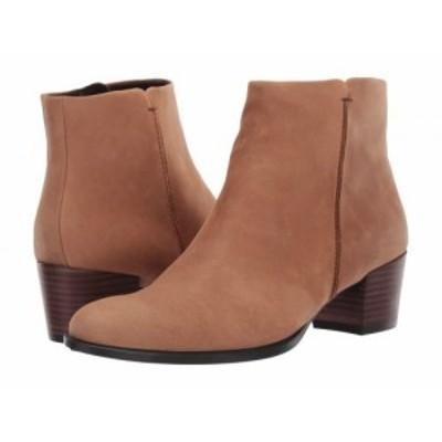 ECCO エコー レディース 女性用 シューズ 靴 ブーツ アンクル ショートブーツ Shape 35 Stitch Boot Camel Nubuck Leather【送料無料】