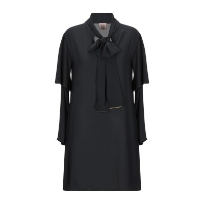 MÊME ROAD ミニワンピース&ドレス ブラック 42 ポリエステル 100% ミニワンピース&ドレス