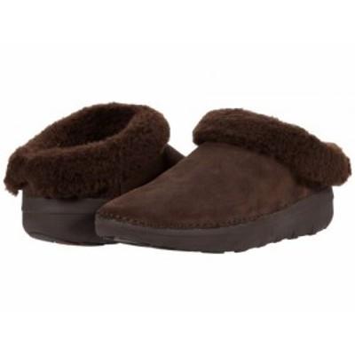 FitFlop フィットフロップ レディース 女性用 シューズ 靴 スリッパ Loaff Snug Slipper Chocolate Brown【送料無料】