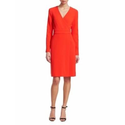ダイアンフォンファステンバーグ レディース ワンピース Long-Sleeve A-Line Wrap Dress