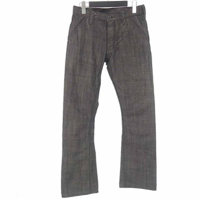 バックラッシュ/BACKLASH リザードレザー ポケット ブーツカット デニムパンツ 42L20 サイズ メンズXS グレー ランクB 101  (中古)