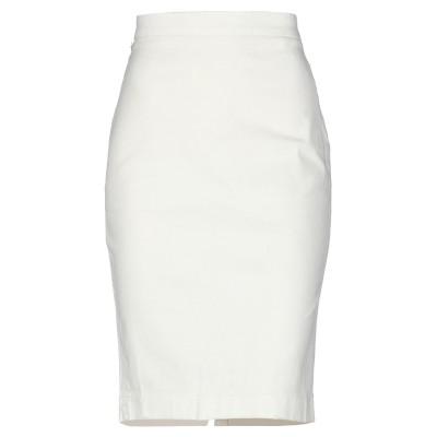 マニラ グレース MANILA GRACE ひざ丈スカート ホワイト 38 コットン 98% / ポリウレタン 2% ひざ丈スカート