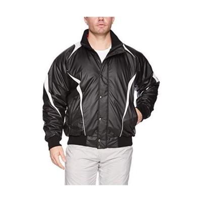 [エスエスケイ] ジャケット 蓄熱グラウンドコート フロントフルZIP+ボタン比翼付き(中綿) メンズ ブラック×シルバーグレー (9095