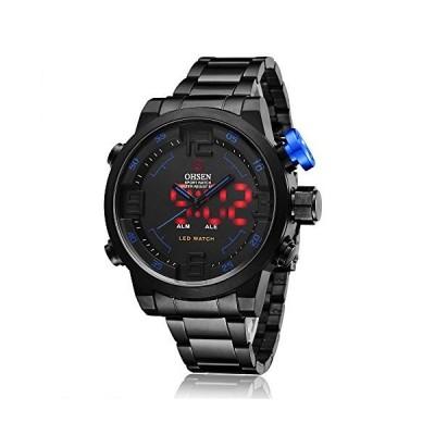 スポーツ 腕時計 デジタル LED 大顔 防水 軍事 ストップウォッチ SIBOSUN メンズ 日本のクォーツ アラーム 日付の?