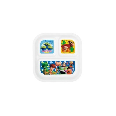 トイストーリー 仕切り皿 スクエアランチプレート ディズニー ヤクセル 22×22×2.6cm キッズプレート