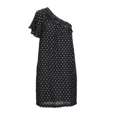8PM ミニワンピース&ドレス ブラック XS 麻 100% ミニワンピース&ドレス