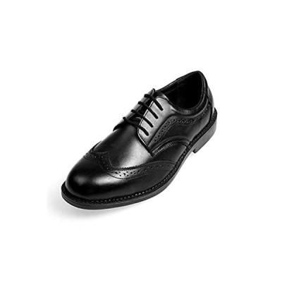 [Placck安全] メンズ ビジネスシューズ 防滑 安全靴 作業靴 セーフティーシューズ 本革 革靴 紳士靴 ウィングチップ 24.5cm