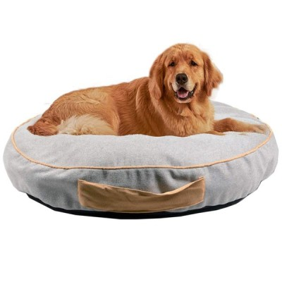 JEMA ペットベッド ペットマット ペットソファ ラウンドベッド 犬 猫 クッション 犬用 猫用 ケージ用敷物 滑り止め 洗える 肌触りのよい 柔らかい 眠りクッショ