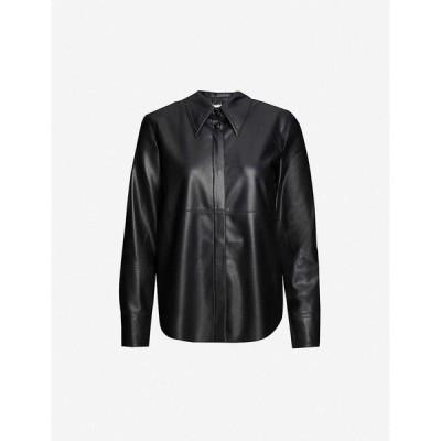 ナヌシュカ NANUSHKA レディース ブラウス・シャツ トップス Naum vegan-leather shirt BLACK