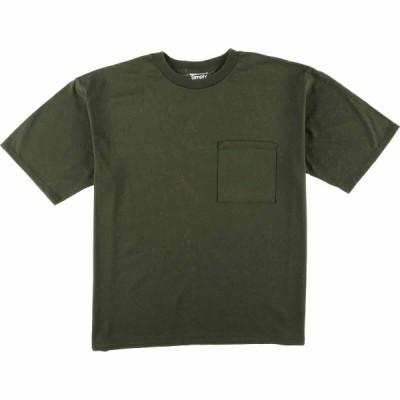 Simply basic 無地ポケットTシャツ USA製 メンズL /eaa076625